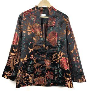 Soft Surroundings Dynasty Floral Asian Blazer